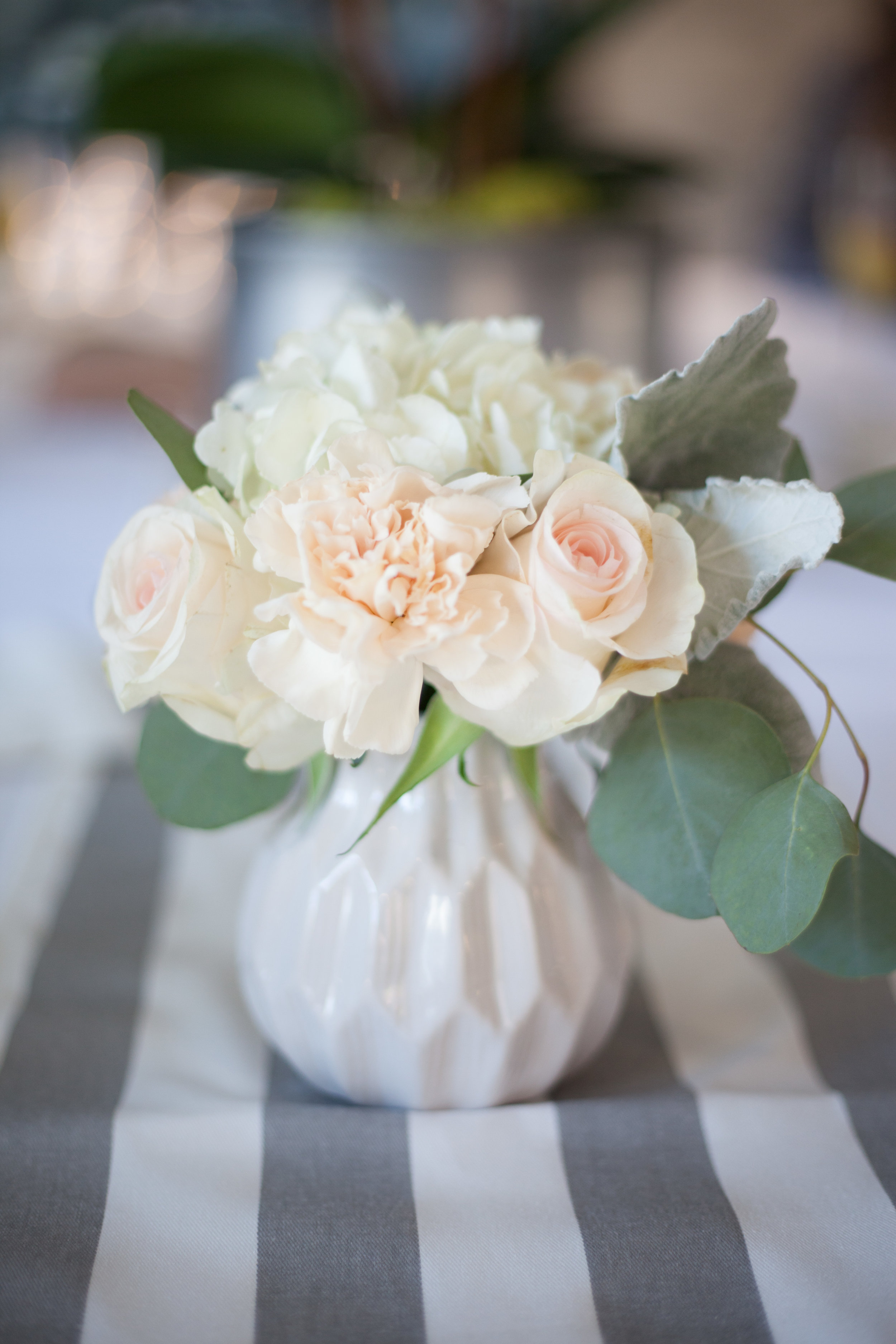 Mini Geometric White Vases