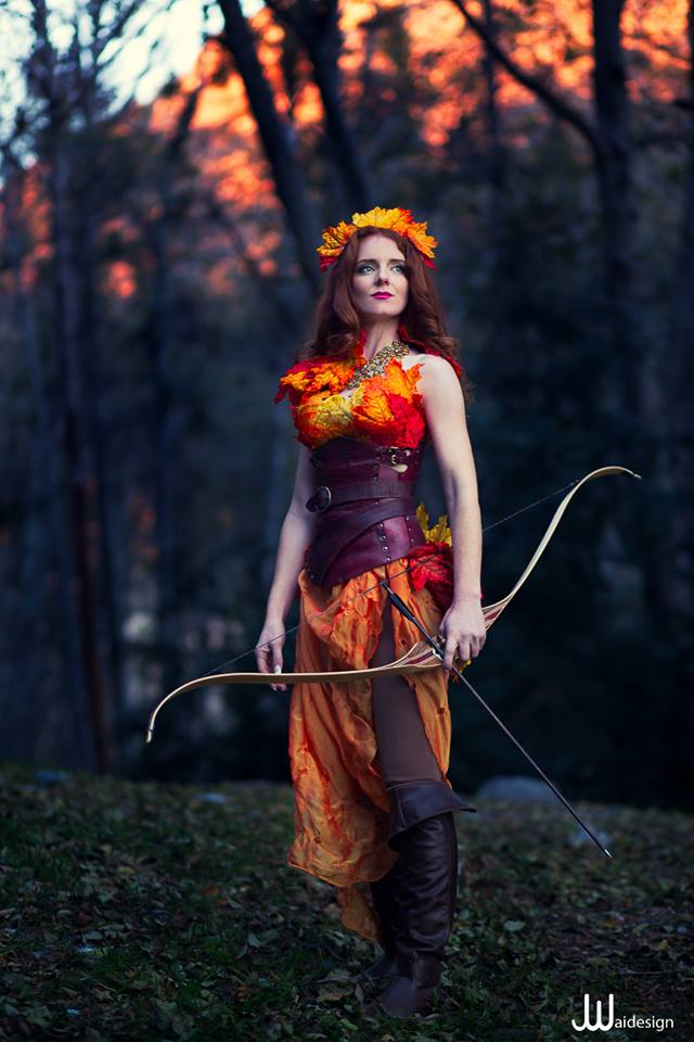 Virginia Hankins Artemis Goddess Fall Harvest Huntress Archer