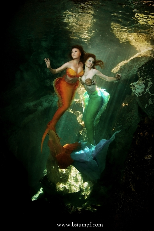 Mermaid Dru left and Catalina Mermaid right by Brenda Stumpf.jpg