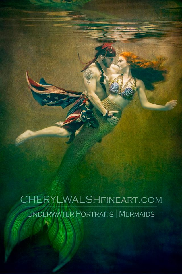 Underwater Romance Cover Photo of Catalina Mermaid and American Pirate by Cheryl Walsh.jpg