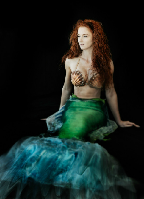 Green Redhead Mermaid Virginia Hankins by Chris Ward.png