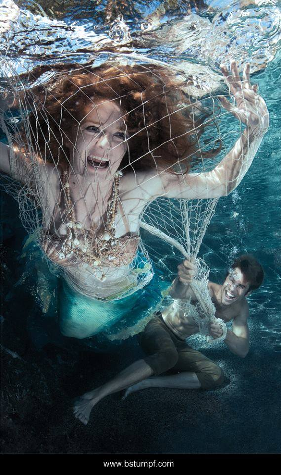 Mermaid and Sailor Virginia Hankins Paul Suda Fishing Net.jpg
