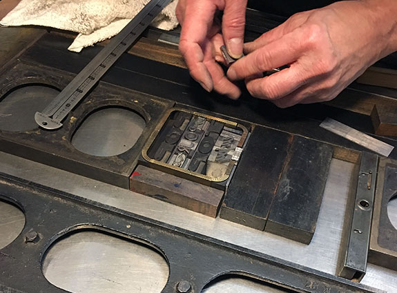 setting_up_typography_coasters_letterpress