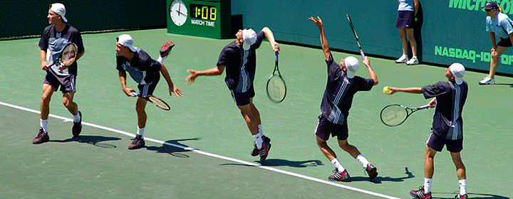 Firing sequences are similar in most sports that require a projectile to be struck by an object