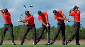Tigers sequence and ground reaction movements in the downswing