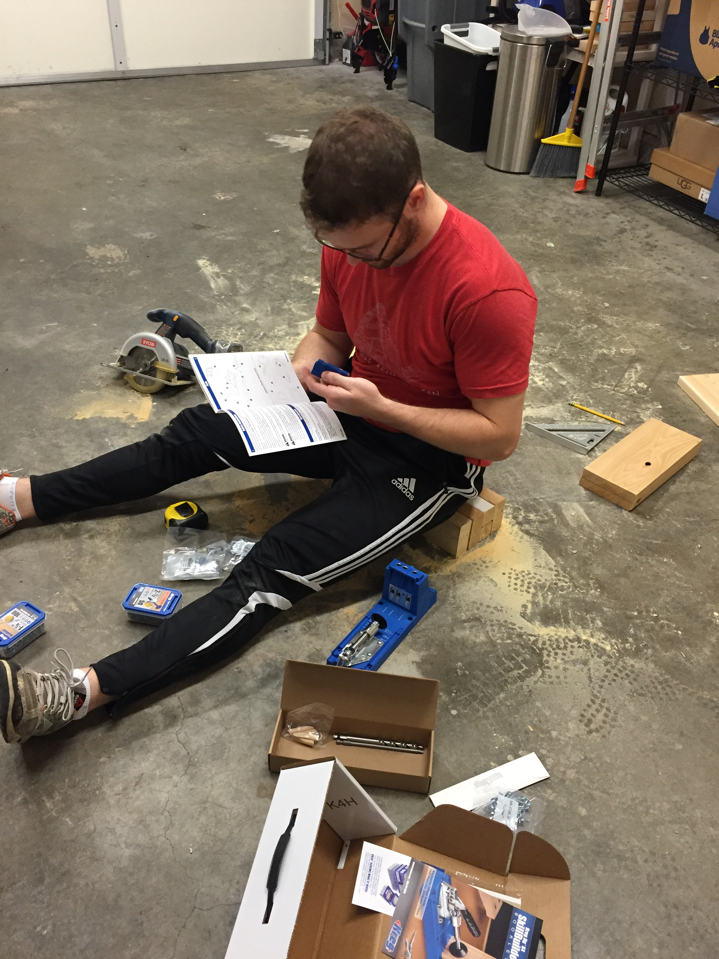 Being cool and reading the instructions for the Kreg Jig
