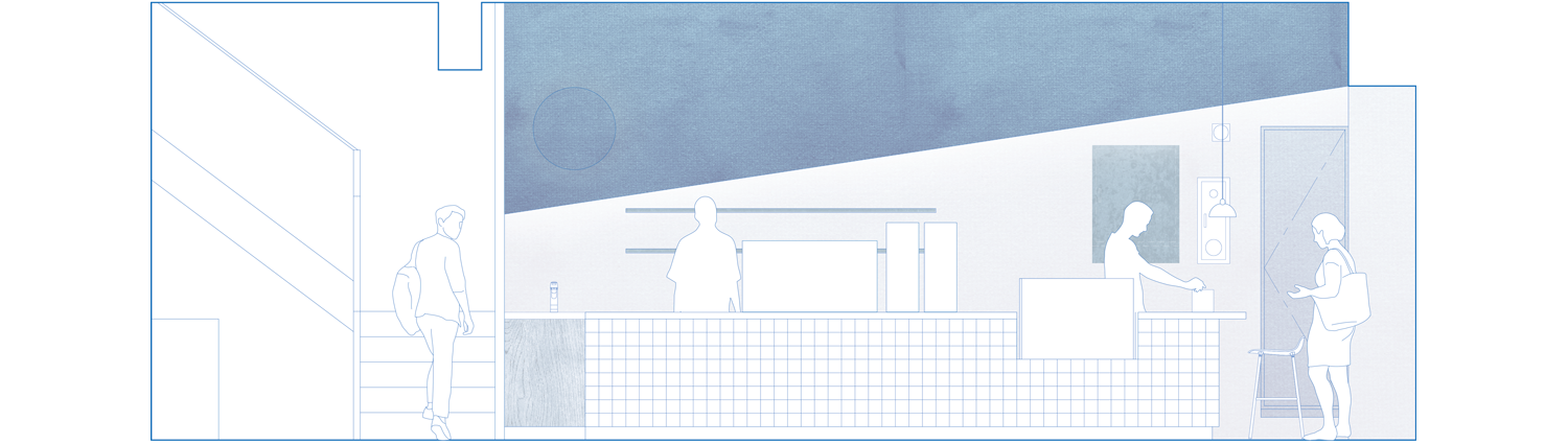 cafe counter elevation