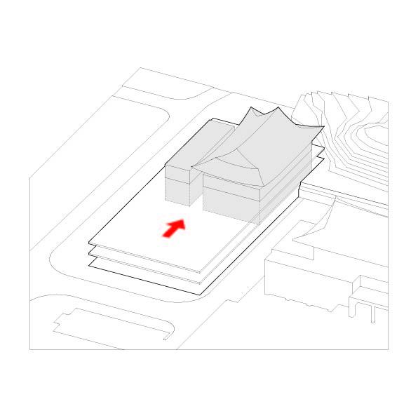 2. 열림을 위한 후퇴                                          건물동을 후면배치하여 남측면에 앞마당 형성