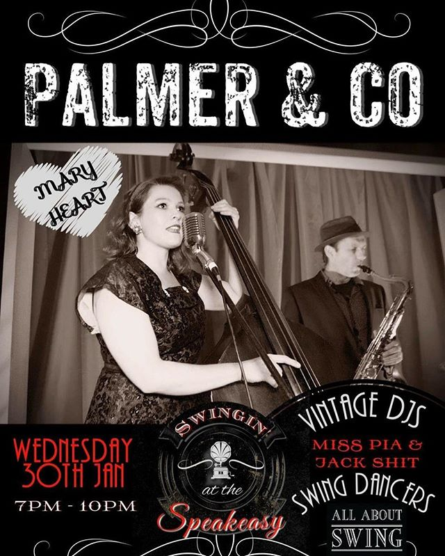 We are back at @palmerco in a week. It's the best vibe with the @all_about_swing crew dancin' and @misspiaandersen spinin' some tunes. 7-10pm on the 30th of Jan.  #blues #swing #rockabilly