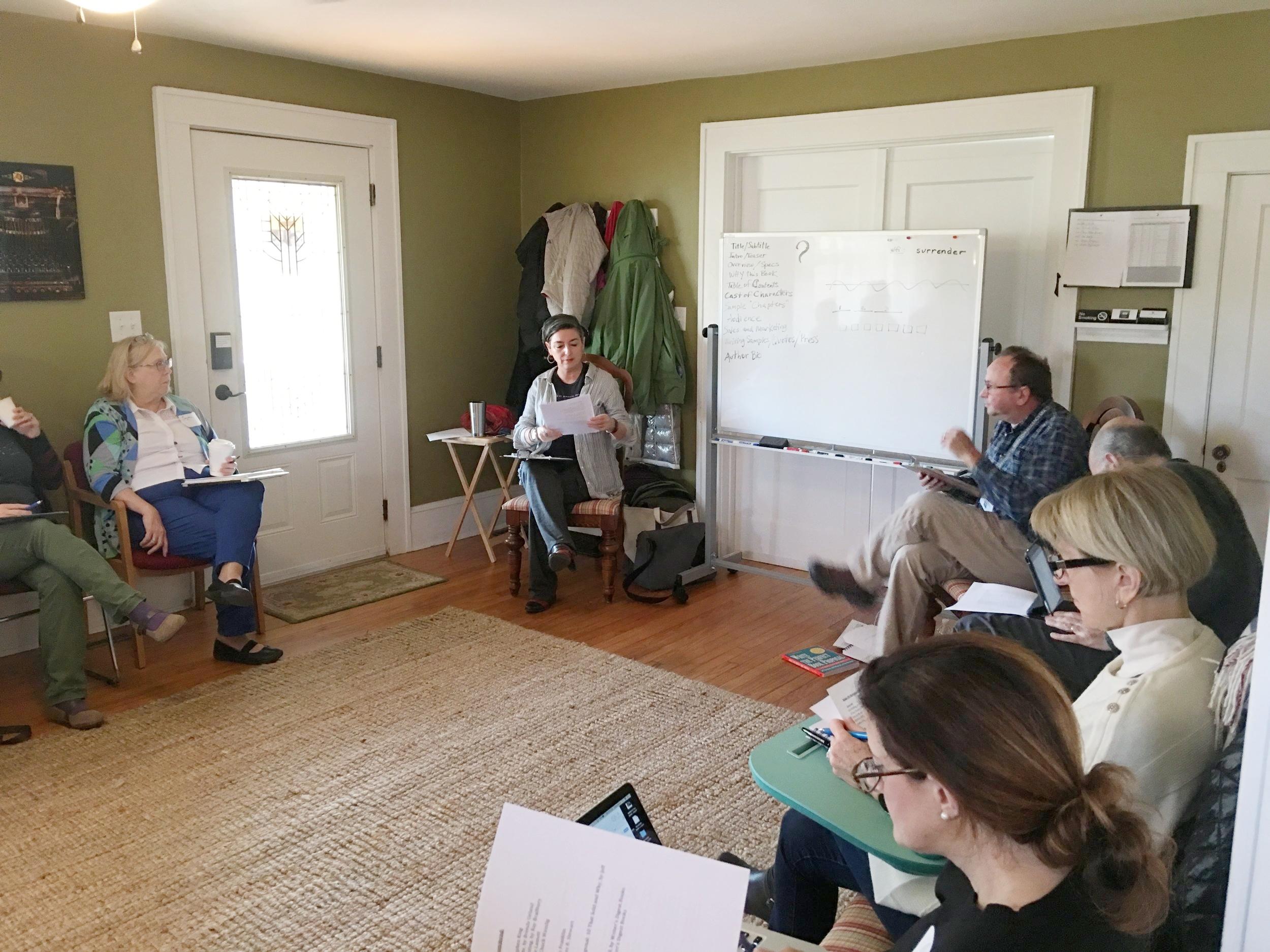 Denise Kiernan & Joe D'Agnese dispensing wisdom at the Nonfiction Book Proposal Bootcamp