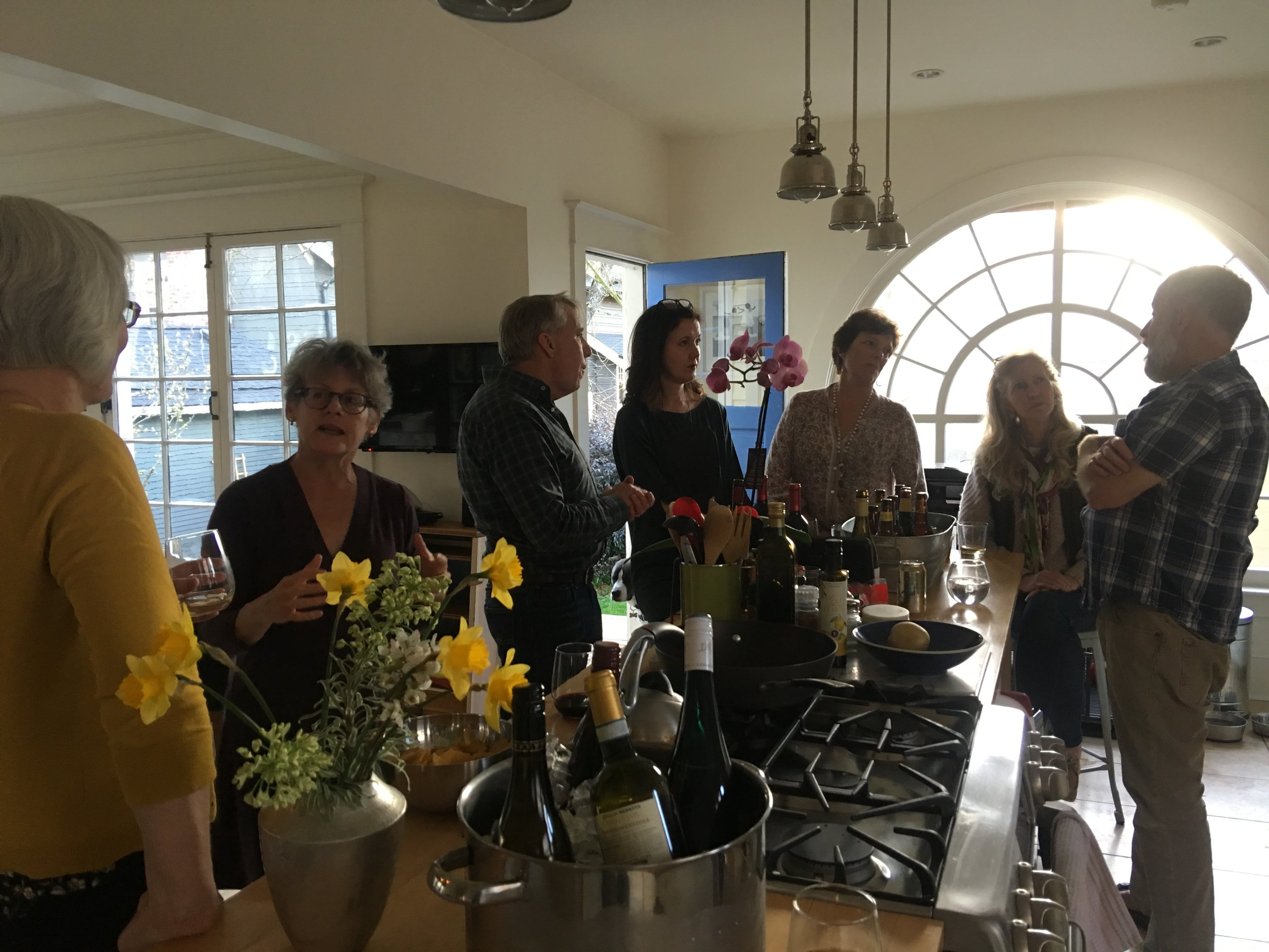 Post-conference party at Mike Marshall's gorgeous home with some of our favorite writers