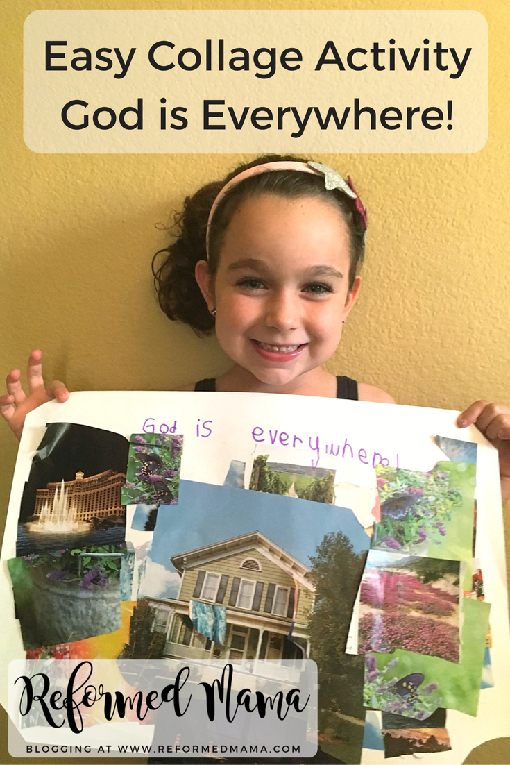 Childrens Catechism - God is Everywhere Easy Collage for Preschool, Kindergarten, and Elementary Age Kids