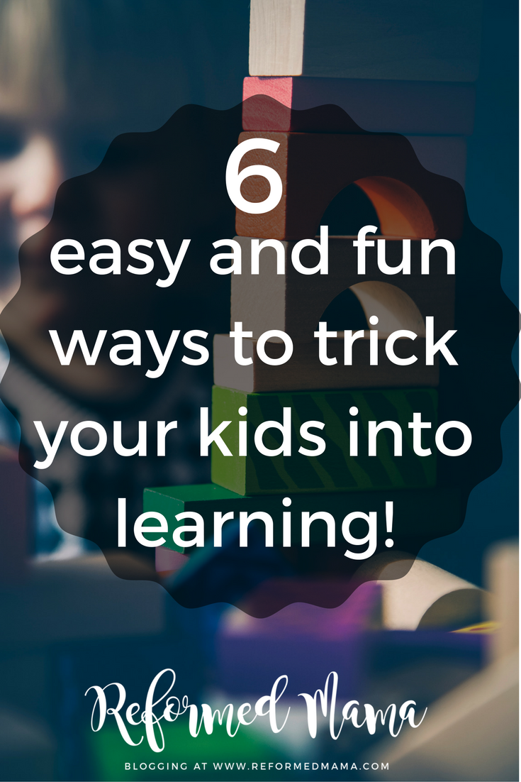 Six easy and fun ways to trick your kids into learning things like Bible Verses, Catechism Questions, Whatever
