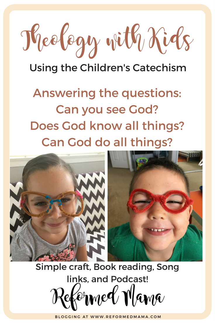 Children's Catechism with Kids - Questions 11, 12, and 13 - Important theology questions for kids plus a simple craft and book, song, and podcast recommendations