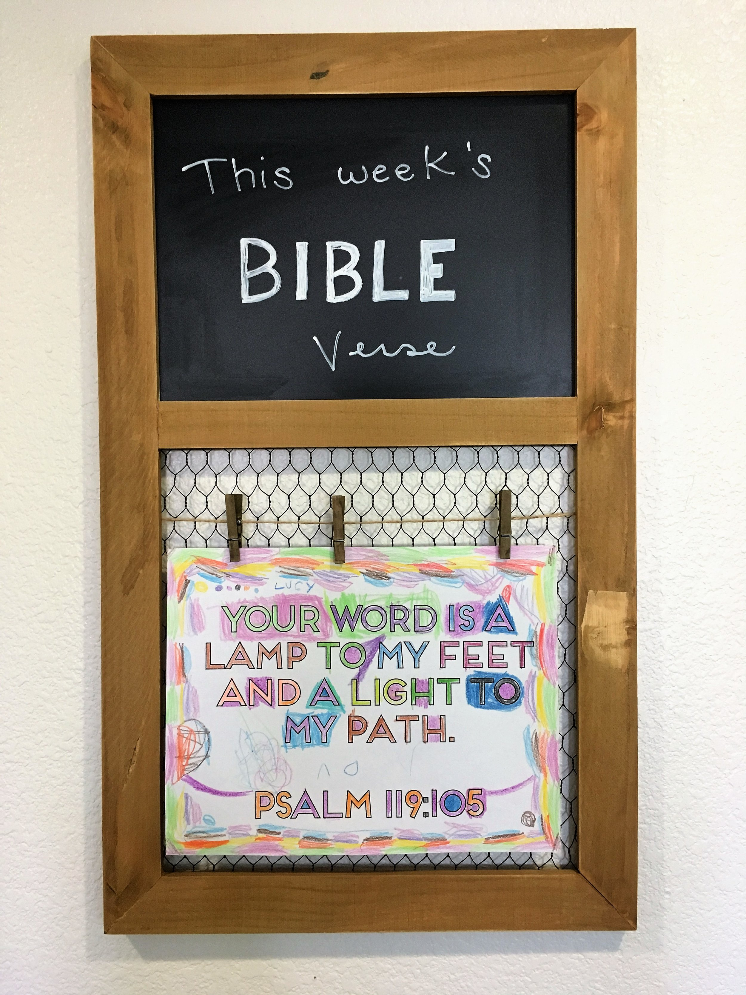 Bible Memory Verse Wall Hanging for Printables