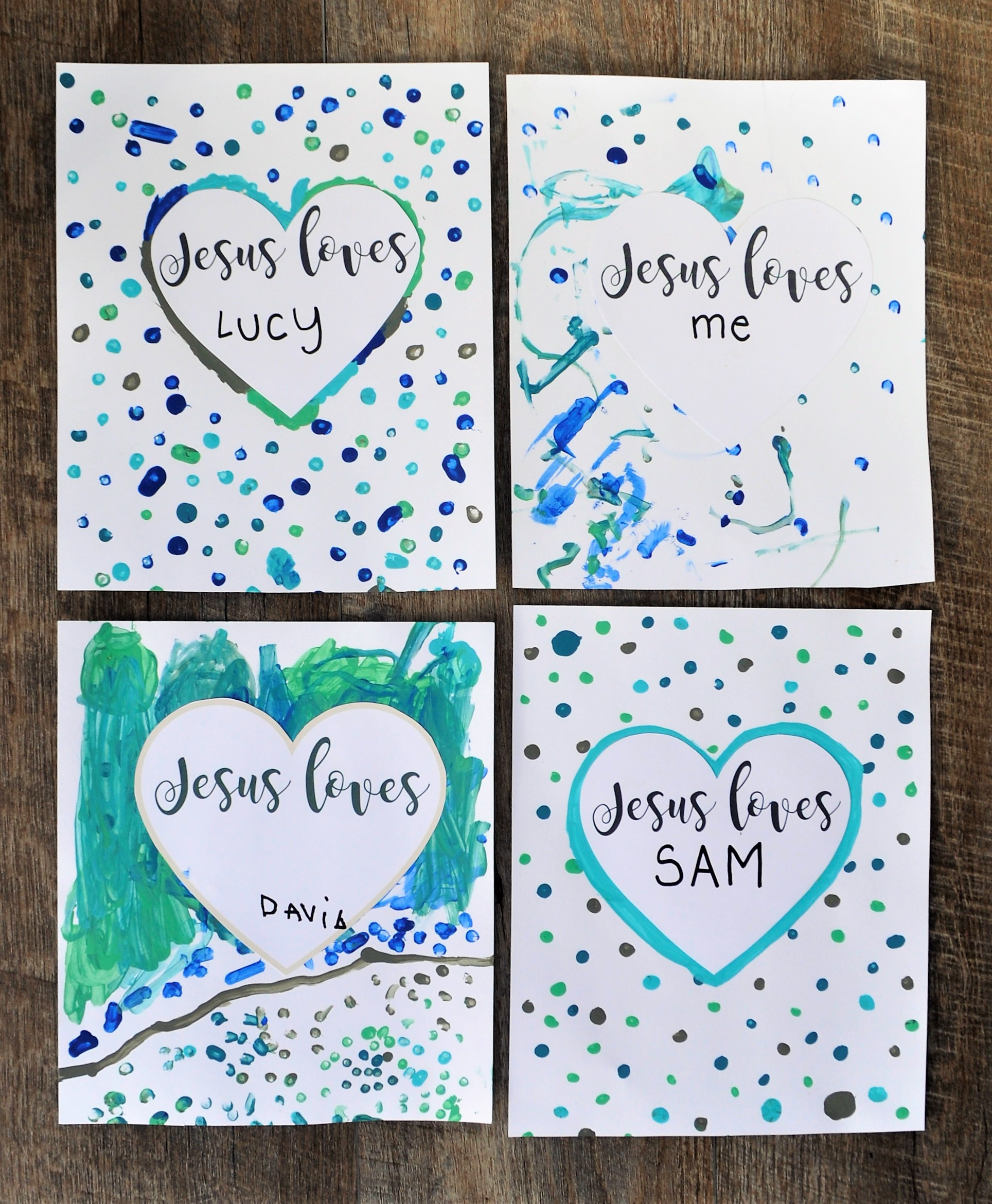Children's Catechism - Do you have a soul? Jesus Loves Me Craft