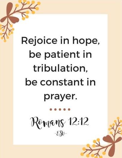 Romans 12:12 ESV Free Printable