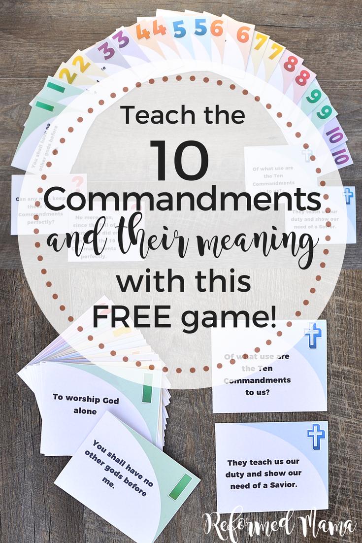 Commandments kids 10 for Moses &
