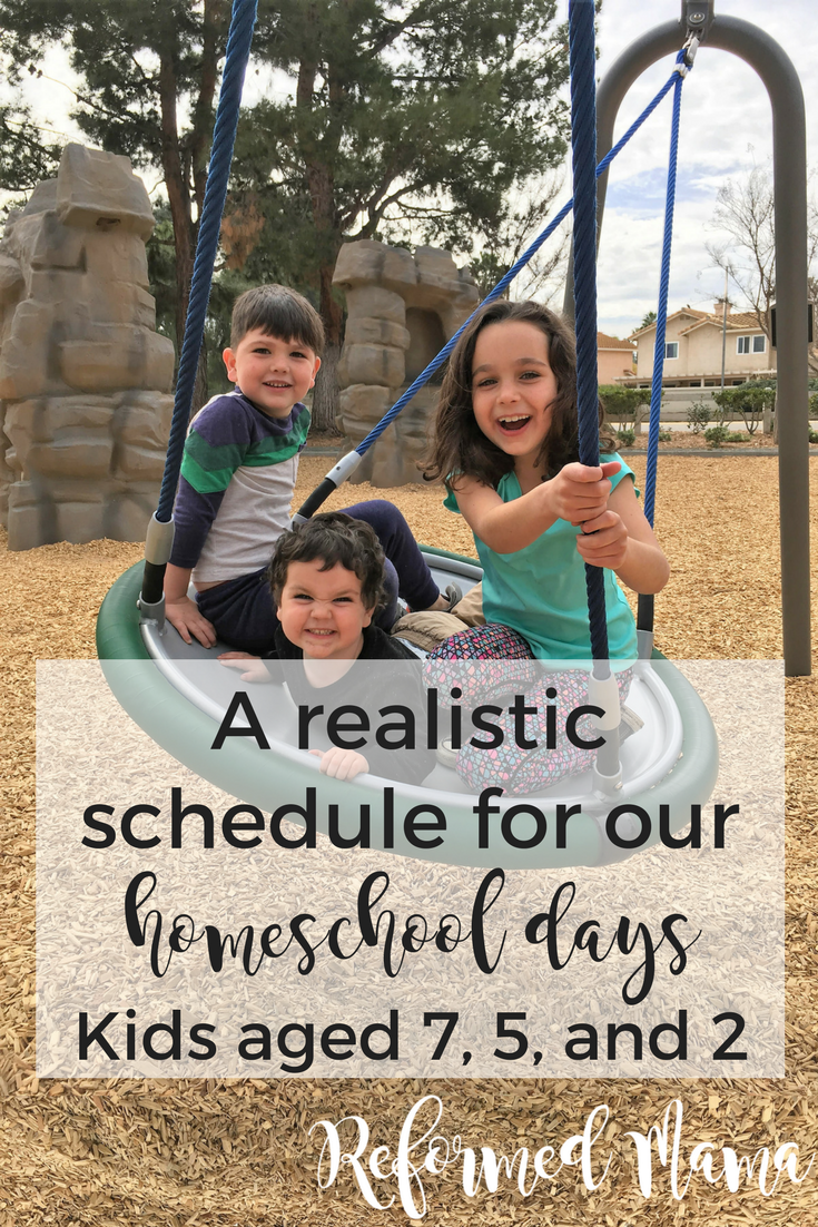 A typical day in our homeschooling with a toddler, pre-schooler, and first-grader #christianhomeschooling #momschedule #homeschool #homeschoolschedule #funhomeschooling