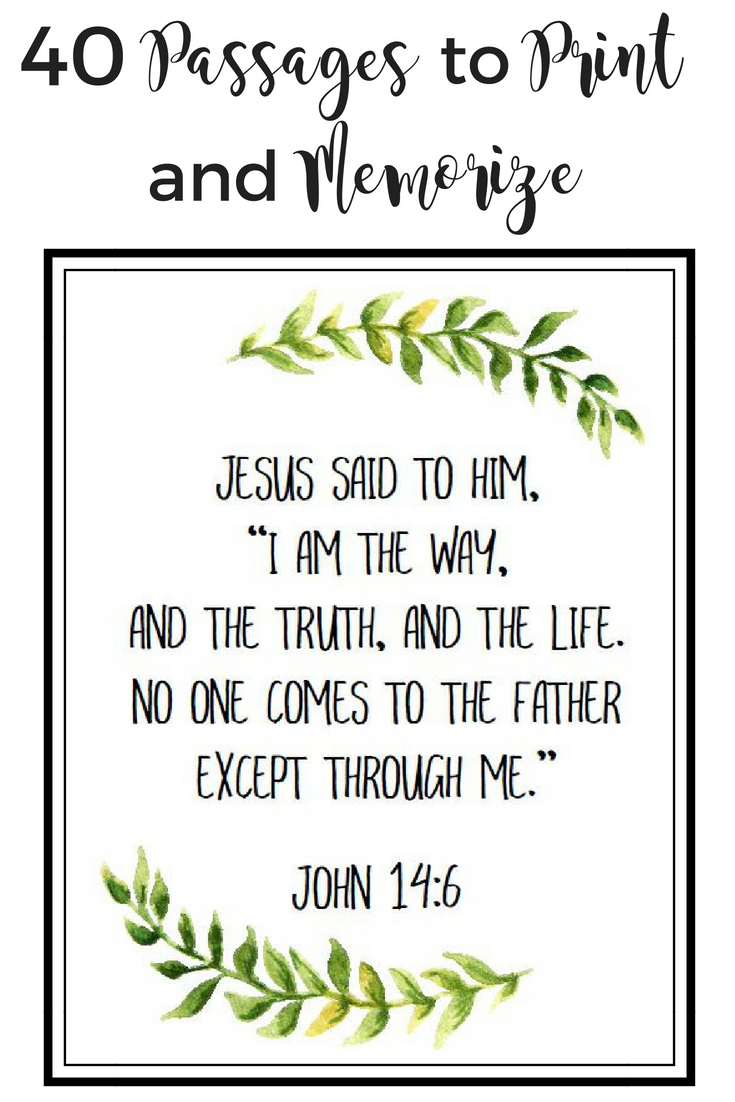 graphic regarding Free Printable Bible Verses identify 40 Vital Scripture Webpages within a Beautiful Totally free Printable