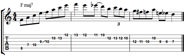 Pat Metheny Lick