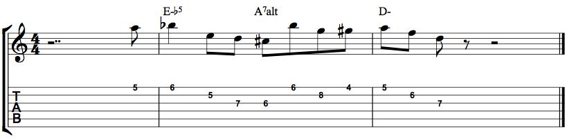 Jazz Guitar Minor Lick