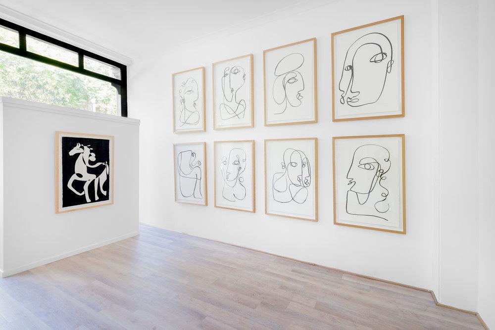 Installation View: Christiane Spangsberg, 'Wild Horses'. Image: @docqment