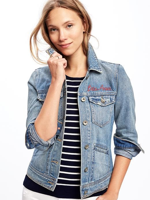 Old Navy graphic denim jacket, $36