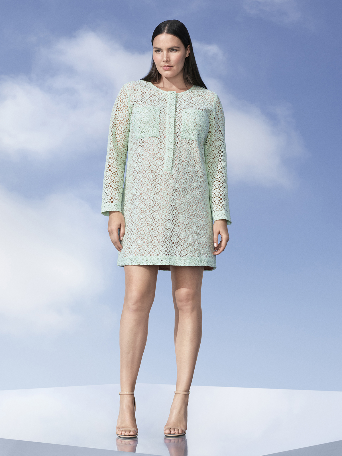 Mint Green Lace Dress, $40