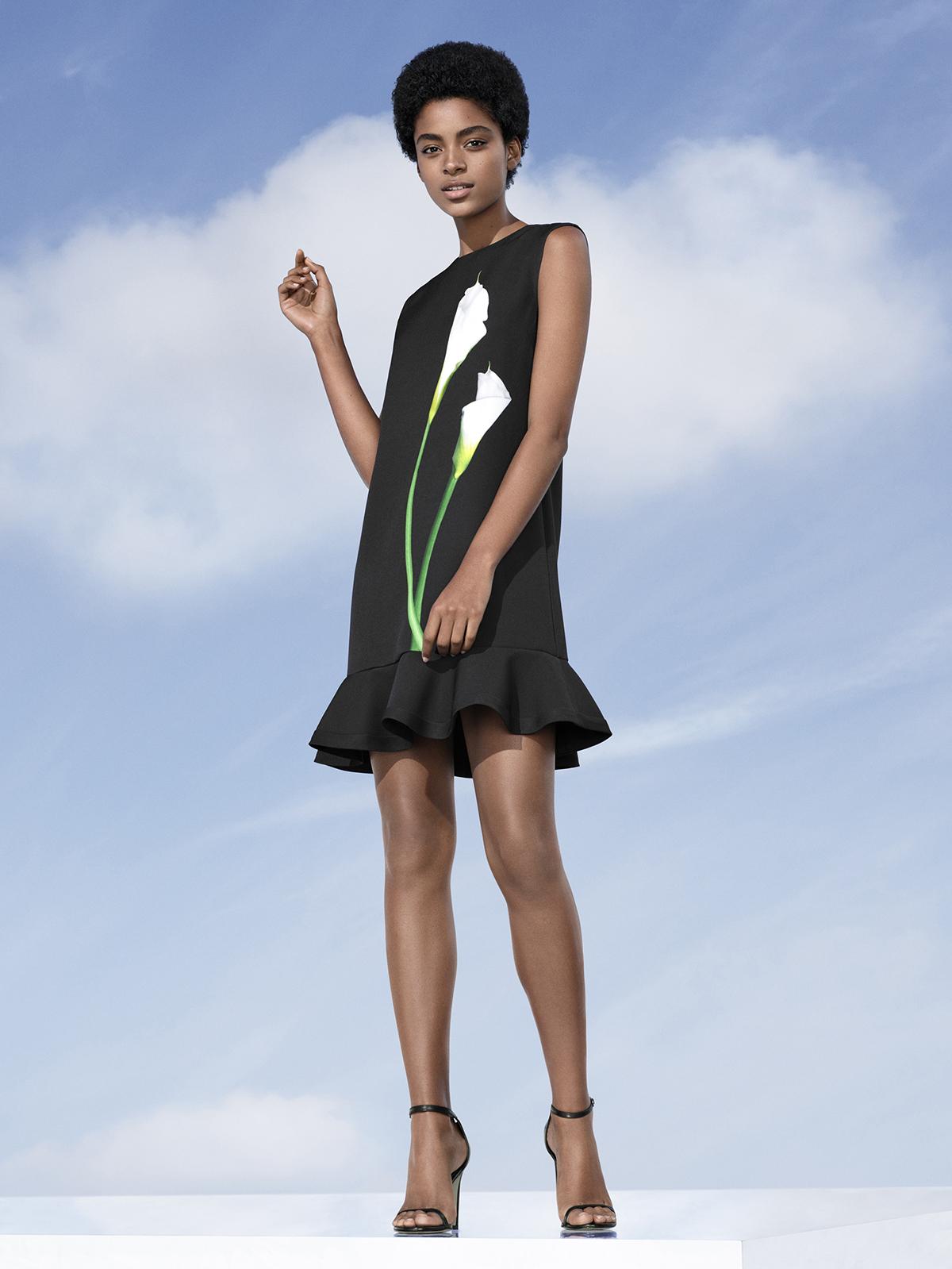 Lily Satin Ruffle Hem Dress, $35