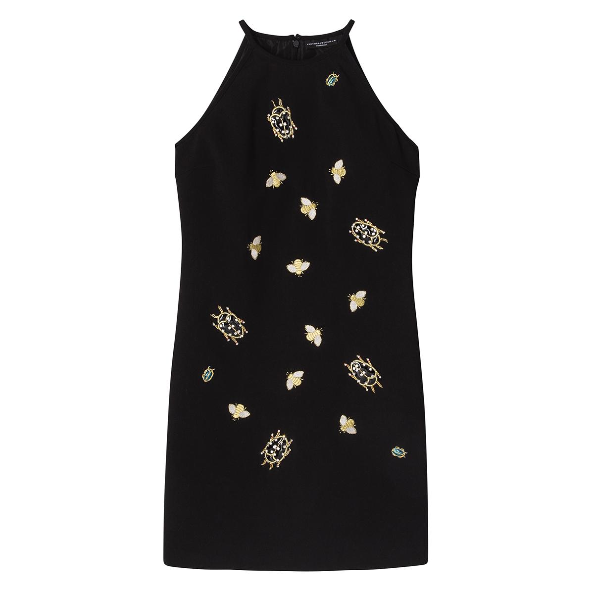 Black Embellished Bug Dress, $60