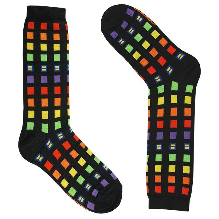 <h2>Rainbow Block Socks, $18</h2>