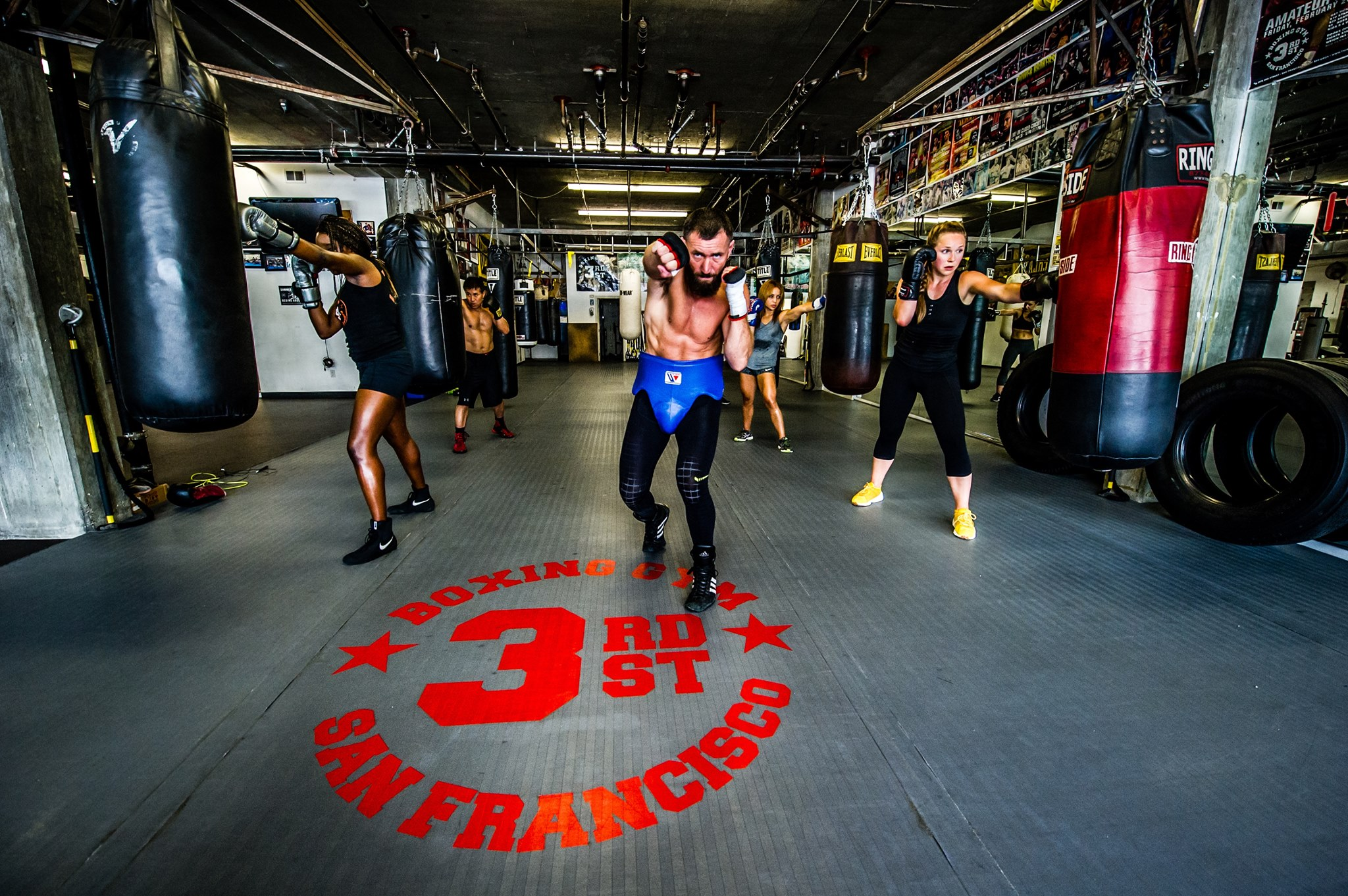 3rd Street Boxing Gym  . This Dogpatch spot is my romanticized notion of what a boxing gym should be, largely thanks to Rocky. It feels a little old, a little tattered, a little stinky—exactly like a movie. The classes will leave you feeling sore and dripping in sweat.