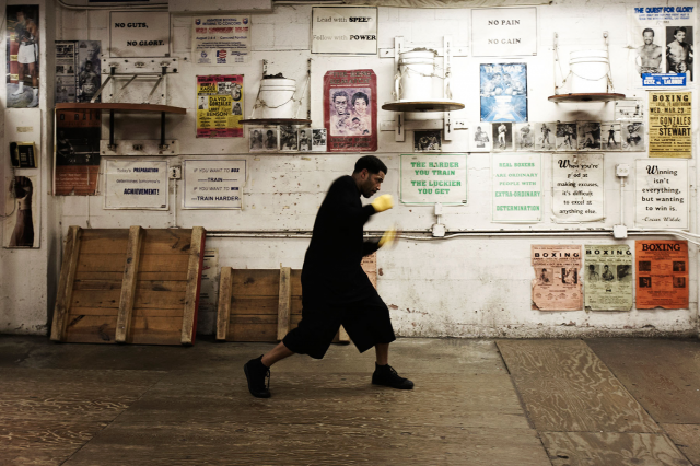 King's Boxing Gym  . If you're a super serious boxer in the East Bay, head to King's Boxing Gym in Oakland. It's a no frills spot, so don't expect towels or potpourri. But if you like blood, sweat, and tears, you've found the right place.