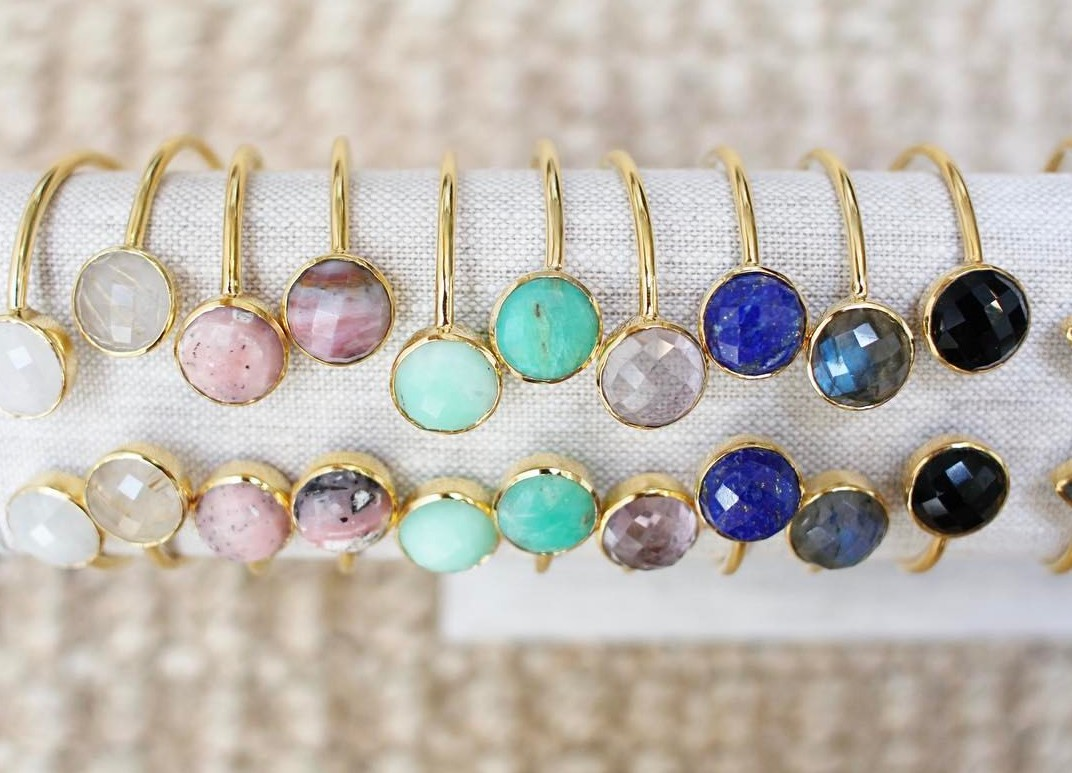 Margaret Elizabeth    Much like Kendra Scott, Margaret Elizabeth hits the sweet spot between design and affordability. Many of designer Meg Shackleton's pieces are under $200, including her colorful stone bangles—which are perfect for gifting. You don't have to trek to the Margaret Elizabeth shop on Chestnut for a jewelry fix: the entire collection is online.