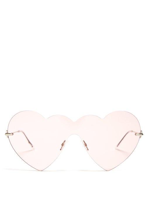 Christopher Kane Heart-Shaped Sunglasses, $338