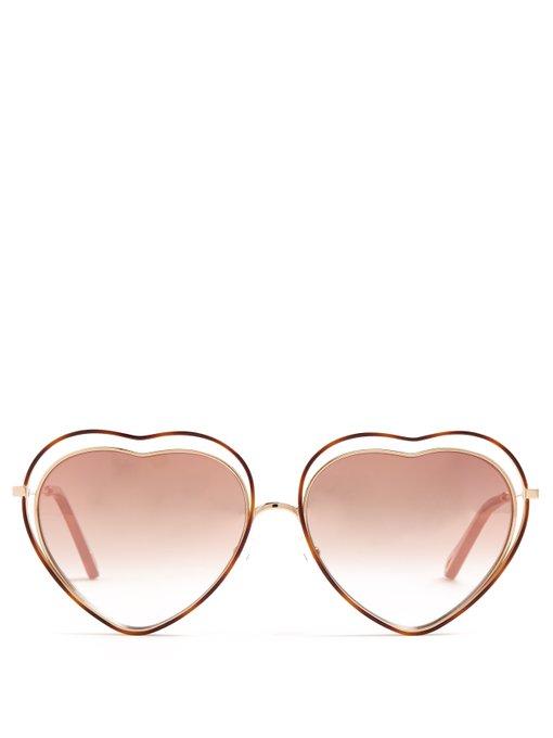 Chloe Poppy Heart-Shaped Sunglasses, $286