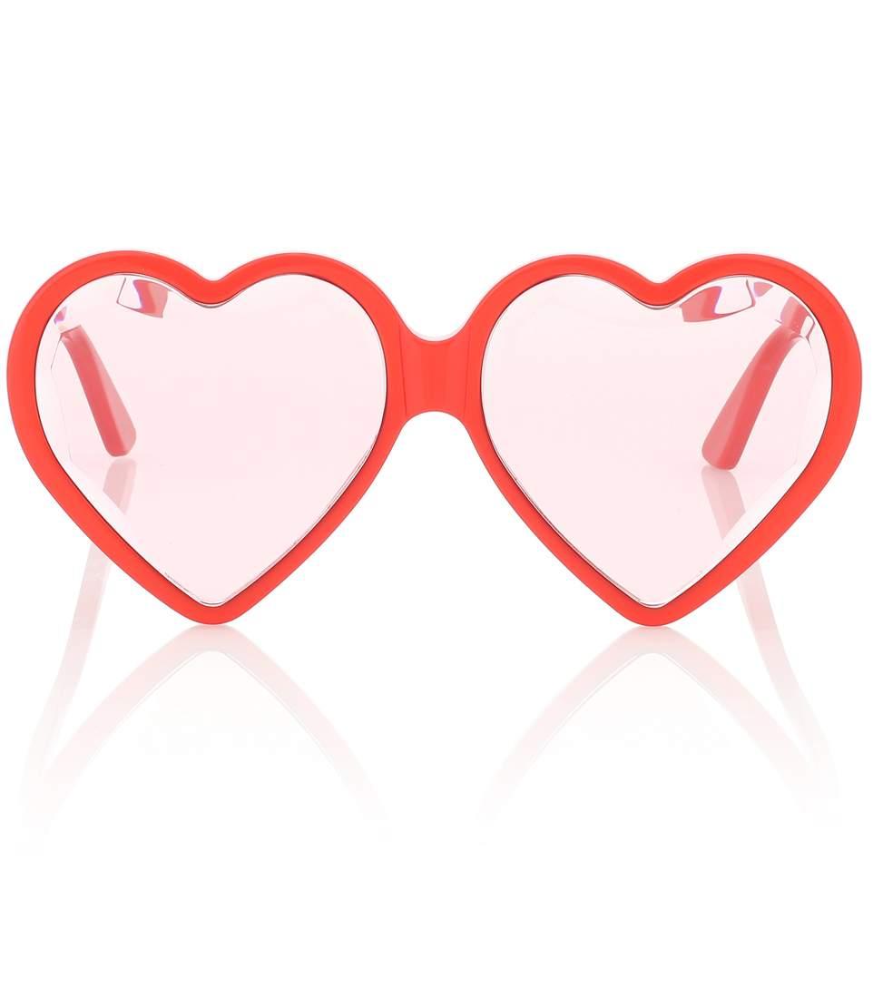 Gucci Heart Frame Sunglasses, $550