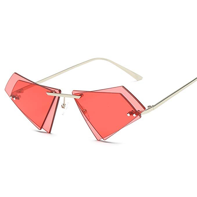 GAMT Polygon Rimless Double Lens Sunglasses, $10.90