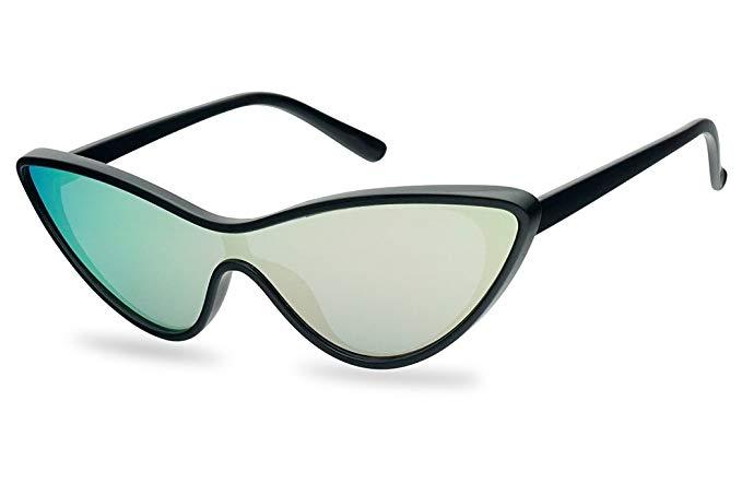 Sunglass Up Futuristic Mono Lens Cat Eye Shield, $9.99