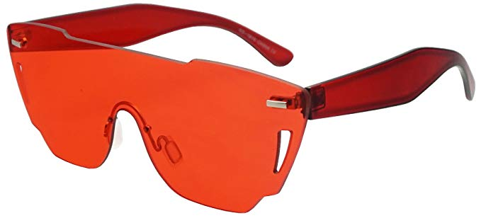 Sunglass Up One Piece Rimless Full Shield Sunglasses, $10.99
