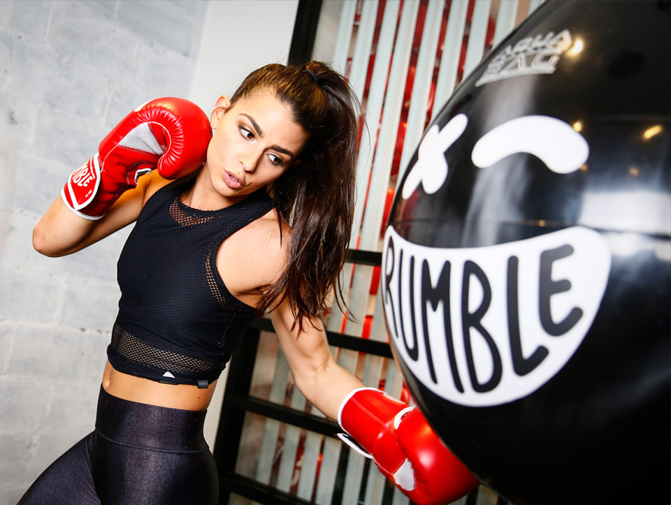 Rumble  . After months of anticipation, Rumble is finally opening the door to its first Bay Area location this month. The 10-round workout is split between landing punches on an aqua bag and lifting weights.