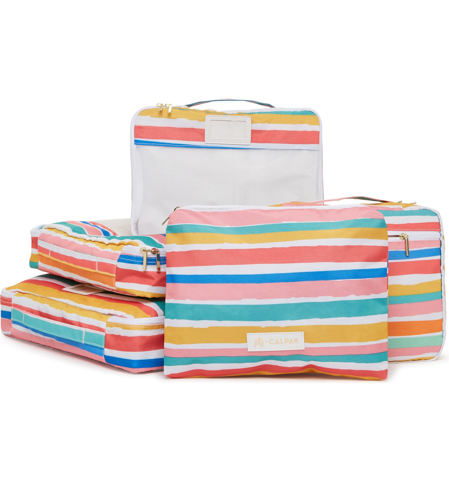 Oh Joy! CalPack Packing Cubes, $48 - Packing cubes can help you organize your clothes and compress them into less space in your suitcase. There are lots of cheaper versions, but these brightly-colored cubes spark joy.
