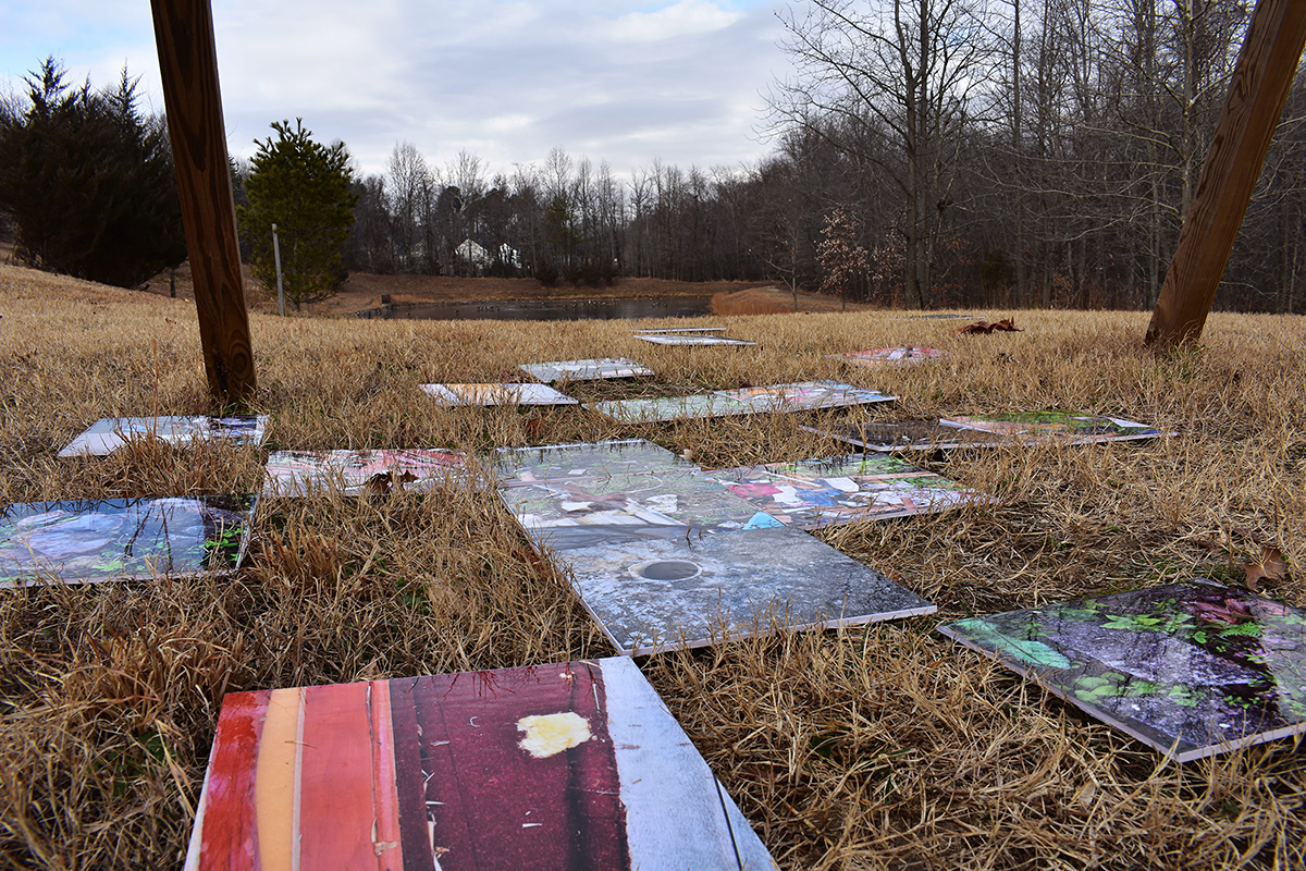 Groundscapes Displaced . Installation in Clinton, Maryland, EU