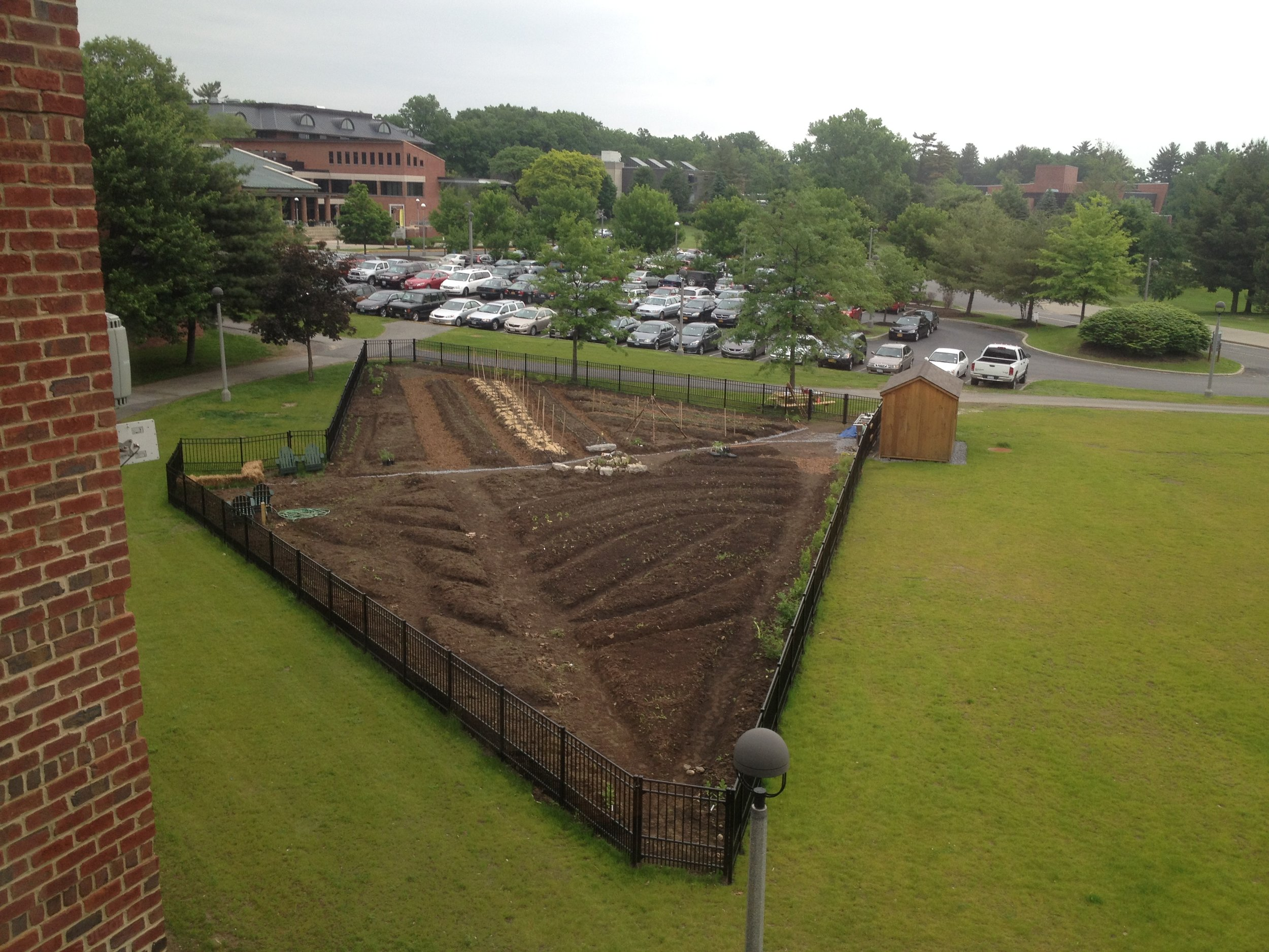 A view of the Garden shortly after ground was broke.  Photo credit: Skidmore College