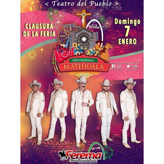 El Domingo 7 de Enero 2018 iniciaremos la Gira Invasion Tucanes 2018 en Matehuala, SLP. #lostucanes #lostucanesdetijuana #invasiontucanes #matehuala #TucanesDeTijuana