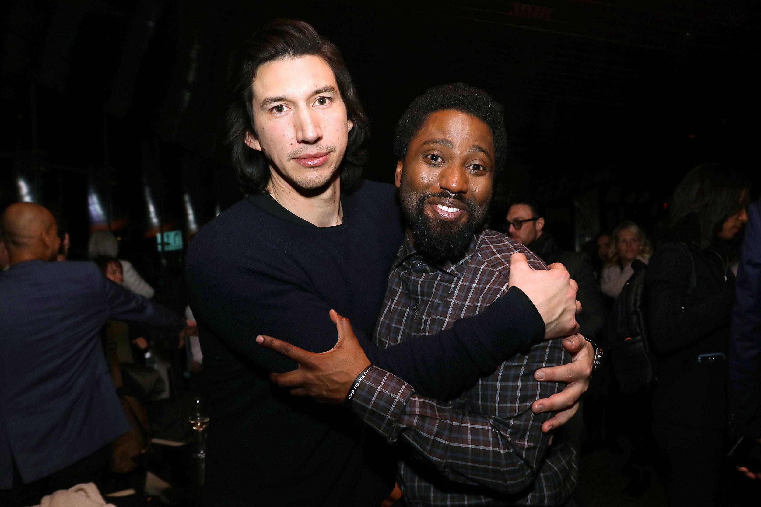 Best Supporting Actor nominee Adam Driver and John David Washington at a NYC screening of BlacKkKlansman Photo by: Kristina Humphrey