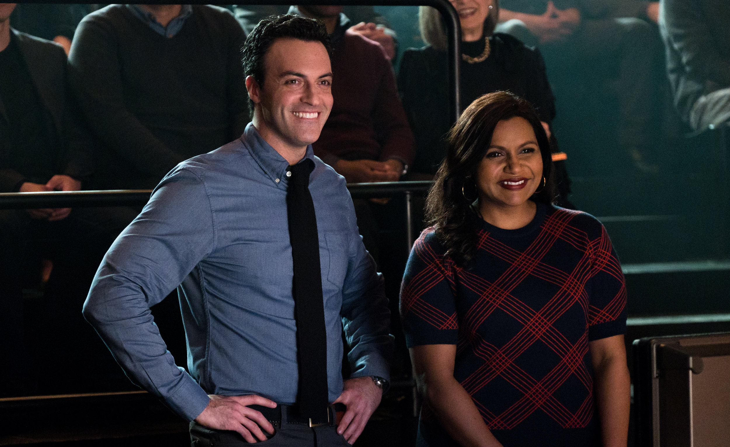 Reid Scott and Mindy Kaling. Credit: Emily Aragones, Courtesy of Amazon Studios