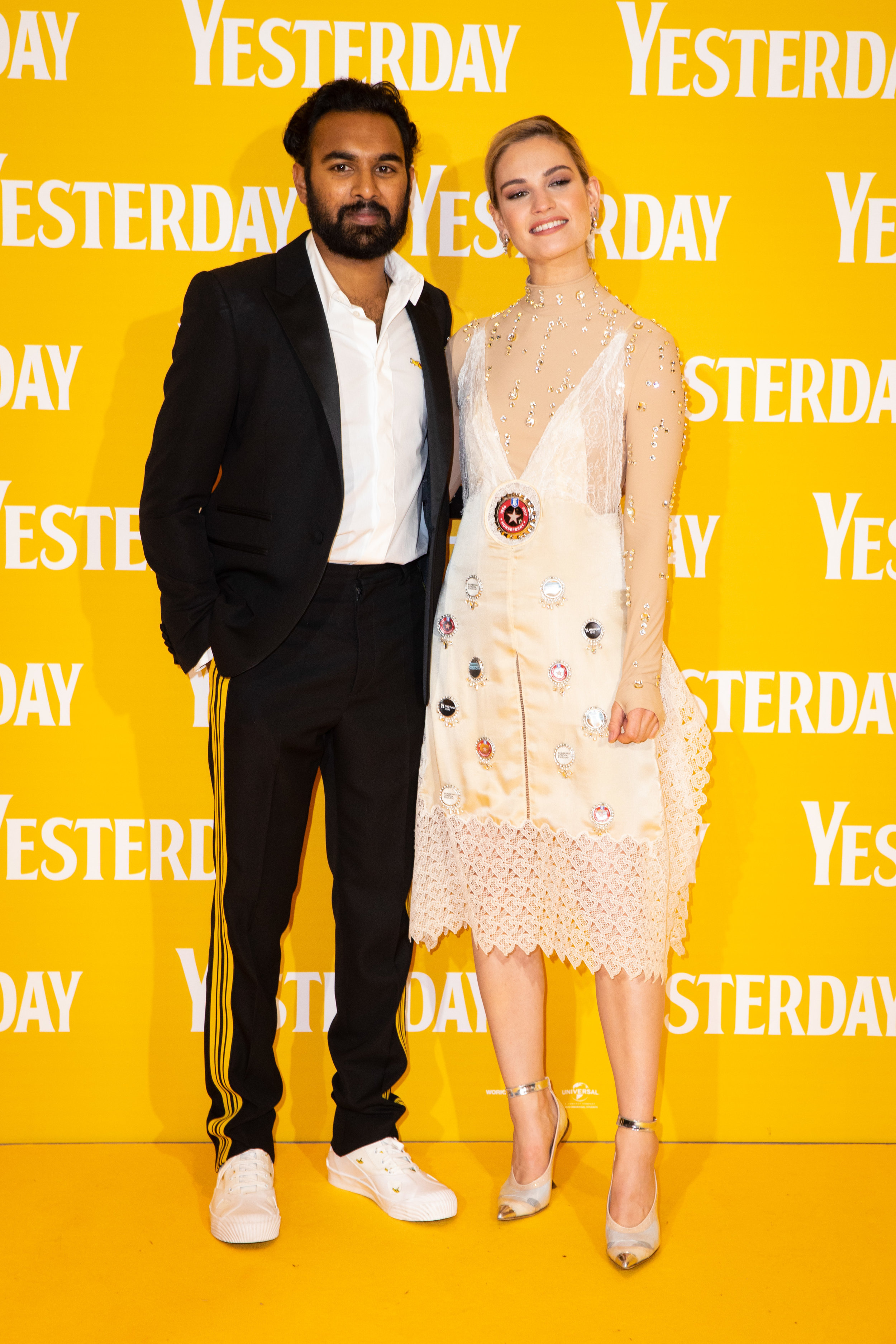 Himesh Patel and Lily James at the London Premiere (Credit: James Gillham / StillMoving.net)