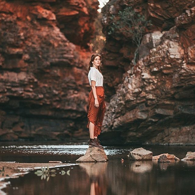 Take me back to this outback oasis 🧡🙌 | @ausoutbacknt @journeybeyondrail